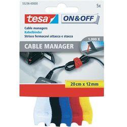 Opaski kablowe na rzepy Do wiązania element z pętelkami i haczykami (DxS) 200 mm x 12 mm Kolorowy TESA On & Off 55236-00-00 5 szt.