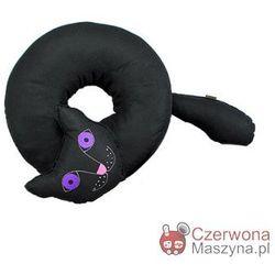 Poduszka do siedzenia Lilyshop Kot czarna z fioletowymi oczami