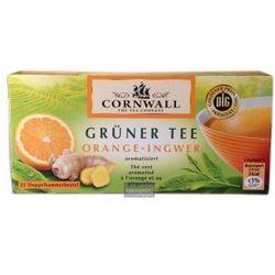 Zielona herbata z pomarańczą i imbirem