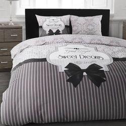Komplet pościeli SWEET DREAMS szary flanela (200 x 220 cm)
