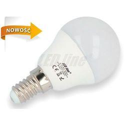 Żarówka LED SMD E14 230V 6W biała zimna GLOBE