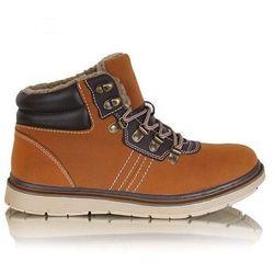 Ocieplane męskie buty trekkingowe /B6-2 Z165 Sx432/ Brown (camel)