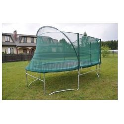 EURO 280 cm x 510 cm PRO (17ft) - Trampolina ogrodowa z siatką zabezpieczającą i drabinką