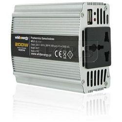 PRZETWORNICA SAMOCHODOWA DC 12V-AC 230V 200W Z USB - 06577