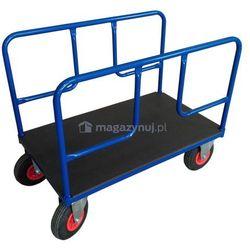 Wózek platformowy dwuburtowy z poręczami na dłuższym boku. Wym. 1200x700mm (Ładowność: 250kg)