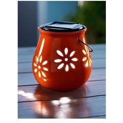 Solarna lampa LED KWIAT pomarańczowa SOLAR