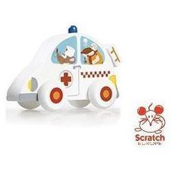 SCRATCH Drewniany samochodzik - Karetka - Drewniany samochodzik - Karetka