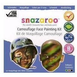 Farby do malowania twarzy Snazaroo - zestaw tematyczny BARWY WOJENNE