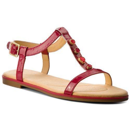 Sandały CLARKS Bay Blossom 261319444 Fuchsia Patent