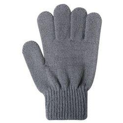 Rękawiczki Twig cienka włóczka wełniana szare