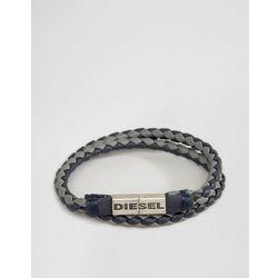 Diesel Alucy Double Wrap Braided Bracelet - Blue