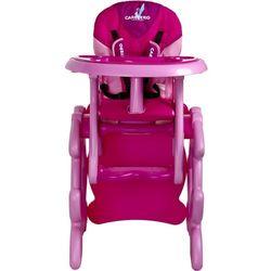 Krzesło do karmienia CARETERO ze stoliczkiem Primus różowy + DARMOWA DOSTAWA!