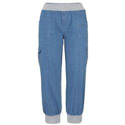 Dżinsy bojówki bonprix niebieski