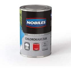 Emalia Chlorokauczuk Biały połysk 1L Nobiles