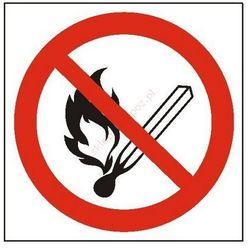 Znak Zakaz używania otwartego ognia i palenia tytoniu PB