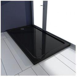 Brodzik prysznicowy prostokątny ABS czarny 70 x 120 cm Zapisz się do naszego Newslettera i odbierz voucher 20 PLN na zakupy w VidaXL!