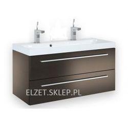 ELITA Kwadro Trufla szafka + umywalka 100 z dwoma otworami 164478.22052011