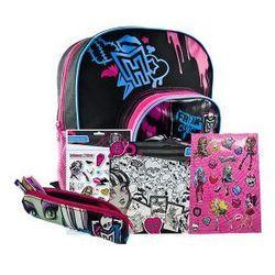 Plecak szkolny z wyposażeniem Monster High