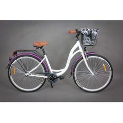 Goetze Rower miejski Pure biało-fioletowy 18