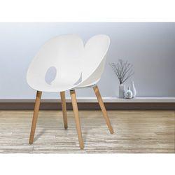 Krzeslo biale - Krzeslo do jadalni, do salonu - krzeslo kubelkowe - MEMPHIS