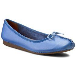 Baleriny CLARKS - Freckle Ice 261155804 Blue Leather