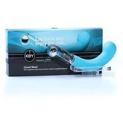 Anatomiczne dildo z silikonu i szkła Dildo Key by Jopen Comet Pearl Wand Blue - Niebieski