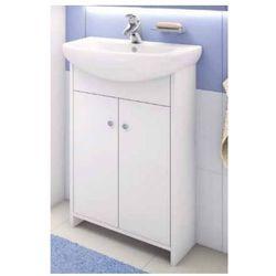 DEFTRANS DIANA Zestaw łazienkowy szafka 2D0S D50 bez cokołu + umywalka, biały 106-D-05007+1120