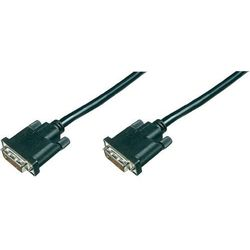 Kabel TV, Monitor DVI, [1x Złącze męskie DVI 24+1-pin <=> 1x Złącze męskie DVI 24+1-pin], 0.50 m, Czarny