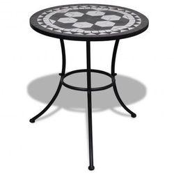 Stolik mozaikowy 60 cm czarno-biały Zapisz się do naszego Newslettera i odbierz voucher 20 PLN na zakupy w VidaXL!