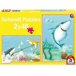 Puzzle 2 x 48 el. Mały rekin biały