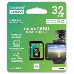 GOODRAM microSDXC 32GB Class 10 + adapter 95/90MB/s 4k DEDICATED DARMOWA DOSTAWA DO 400 SALONÓW !!