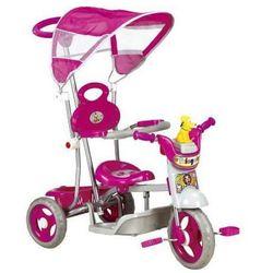 Rowerek trójkołowy różowy