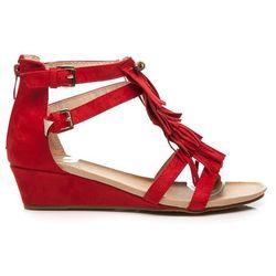 Sandały boho style Ana - odcienie czerwieni