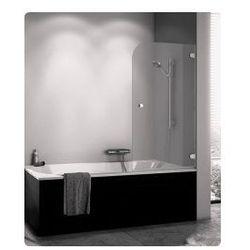 Parawan nawannowy SanSwiss PURB jednoczęściowy prawy 75x140 cm, chrom, szkło przeźroczyste PURBD07501007