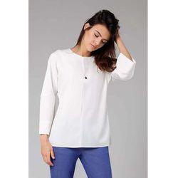 bbe76a6e8c3a77 bluzki damskie elegancka bezowa bluzka z rekawem 3 4 zdobiona ...
