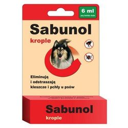 Preparat Sabunol przeciw pchłom i kleszczom dla psa