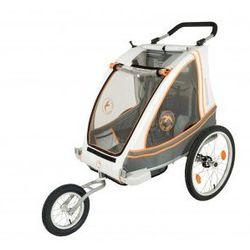 Przyczepka rowerowa BLUE BIRD ALU lekka, dla dzieci 2w1+wózek, składana, pełna amortyzacja