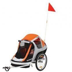 Przyczepka rowerowa Giant PeaPod Duo pomarańczowa