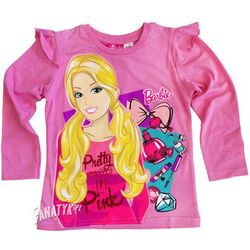 Bluzka długi rękaw Barbie jasny róż