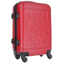 4e91a33be49f6 Modna Walizka Kabinówka Or&Mi Paris/London/NewYork 4 kółka Czerwona (kolory)