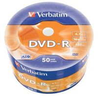 DVD-R VERBATIM 4.7GB X16 MATT SILVER WRAP (50 SPINDLE)