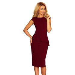 a128a87856 suknie sukienki jasna sukienka z baskinka i siatka olowkowa 3 4 ...