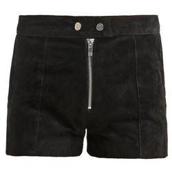 Miss Selfridge Spodnie skórzane black