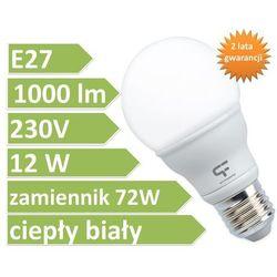 E27 12W 1000lm-barwa ciepła