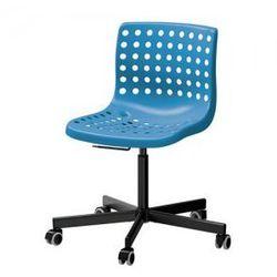 SKALBERG / SPORREN Krzesło obrotowe, niebieski, czarny
