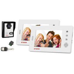 VDW100 - Wideodomofon bezprzewodowy z dwoma monitorami (biały)