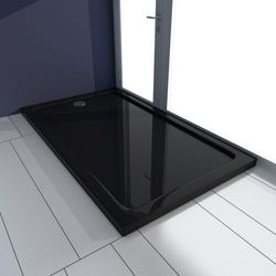 vidaXL Brodzik prysznicowy prostokątny ABS czarny 70 x 120 cm Darmowa wysyłka i zwroty
