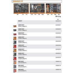 WÓZEK NARZĘDZIOWY 2400/C24S6 Z ZESTAWEM NARZĘDZI, 98 ELEMENTÓW, MODEL 2400S6-R/VI1T, CZERWONY