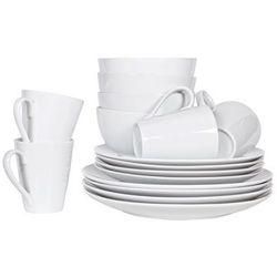 Woood Serwis obiadowy biały (16 szt) 375883-W