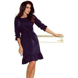 9445bd9fd6 Suknie i sukienki Numoco (od Granatowa Sukienka z Falbankami ...